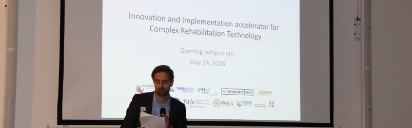 Tom Joosten (Adelante Zorggroep) during the Opening Symposium